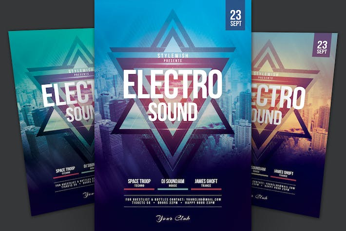 Cover Image For Electro Sound Flyer