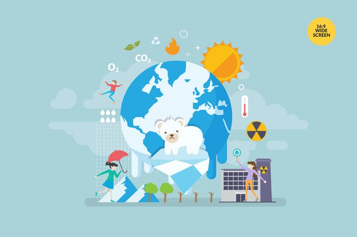 Thumbnail for Global Warming Vector Concept Illustration
