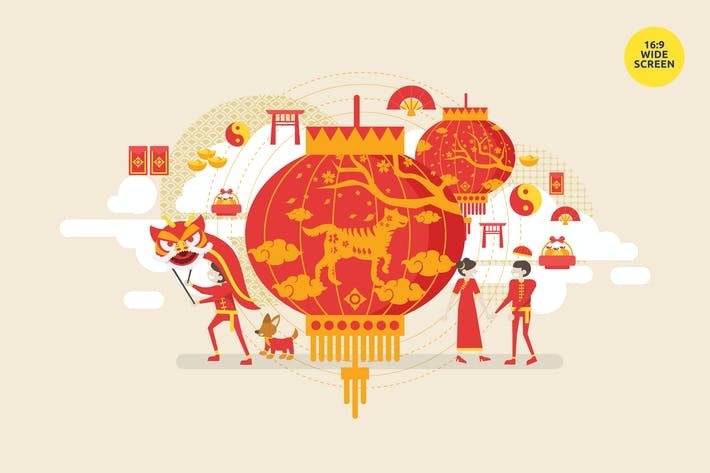 Thumbnail for Chinese New Year Vector Illustration Concept