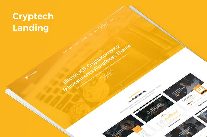 Thumbnail for Cryptech Demo Landing PSD Template