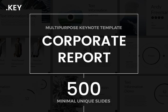 Thumbnail for Corporate Report Keynote Template