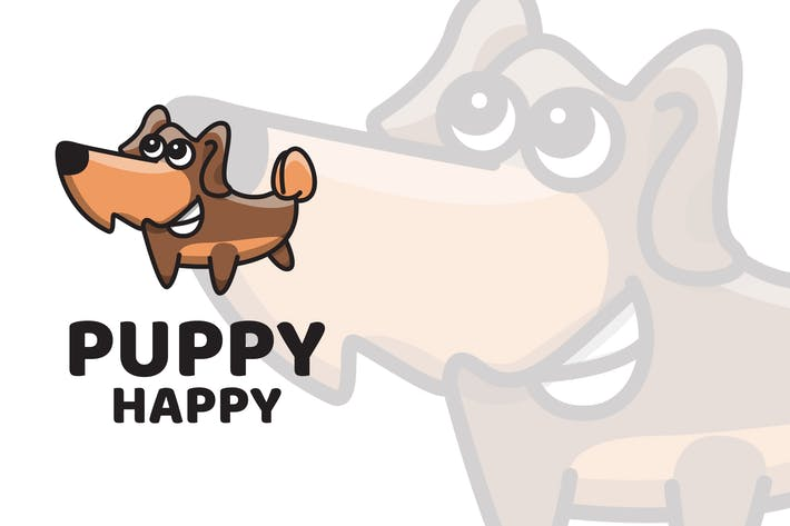 Thumbnail for Puppy Happy Cute Logo Template