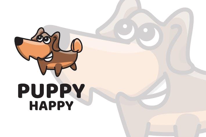 Puppy Happy Cute Logo Template