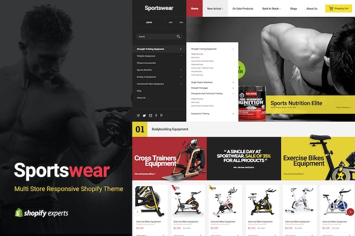 Thumbnail for Sportwear | Multi Store Responsive Shopify Theme