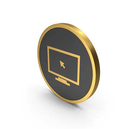 Gold Icon Monitor With Arrow
