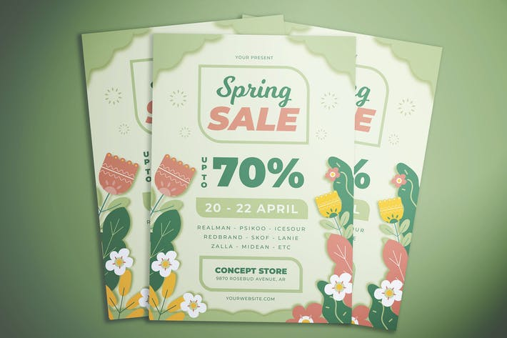 Thumbnail for Flower Spring Sale Flyer