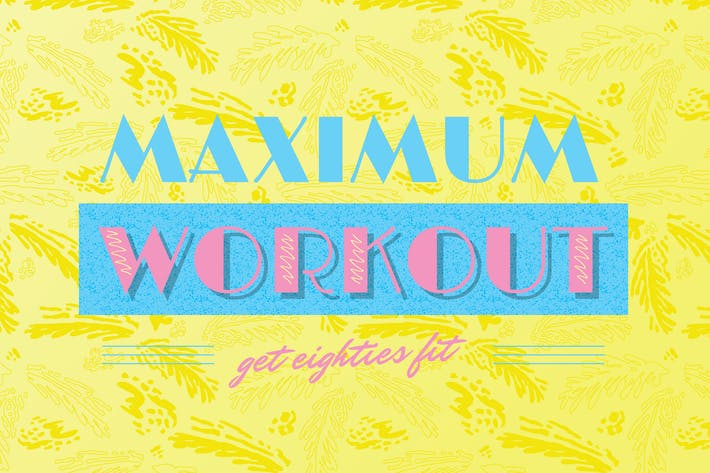 Thumbnail for Customisable 1980s Gym Logo