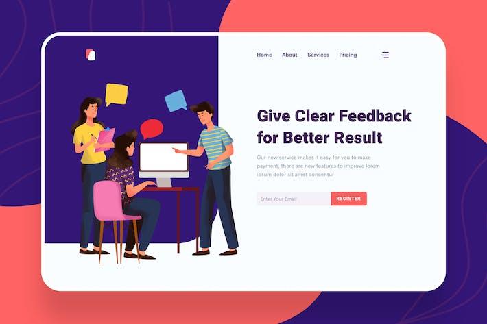 Thumbnail for Give Feeback Illustration - Website Header