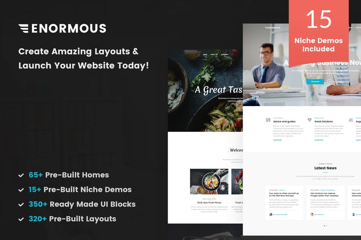 Cover Image For Enormous - Responsive Multi-Purpose HTML5 Template