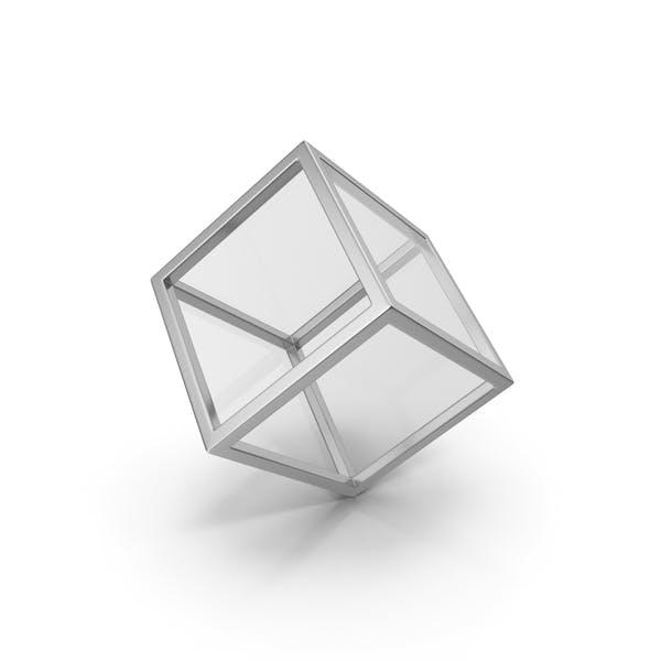 Glaswürfel Silber