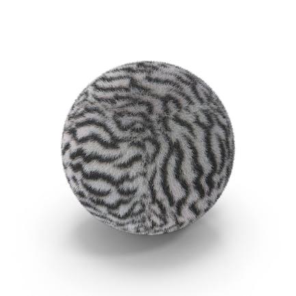 Weißer Tiger Pelzball