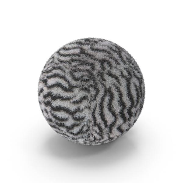 Белый шар из тигрового меха