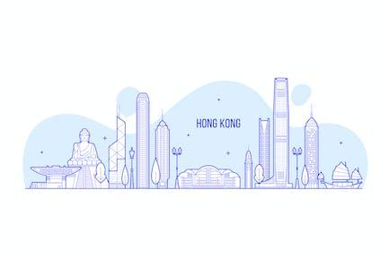 Hong Kong skyline, China