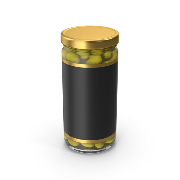 Olivies Jar Gold With Label