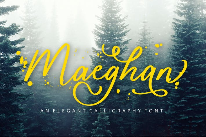 Thumbnail for Maeghan Calligraphy Font