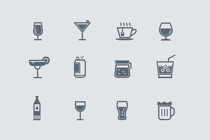 12 Drink and Beverage Icons