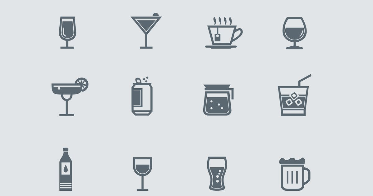 Download 12 Drink and Beverage Icons by creativevip