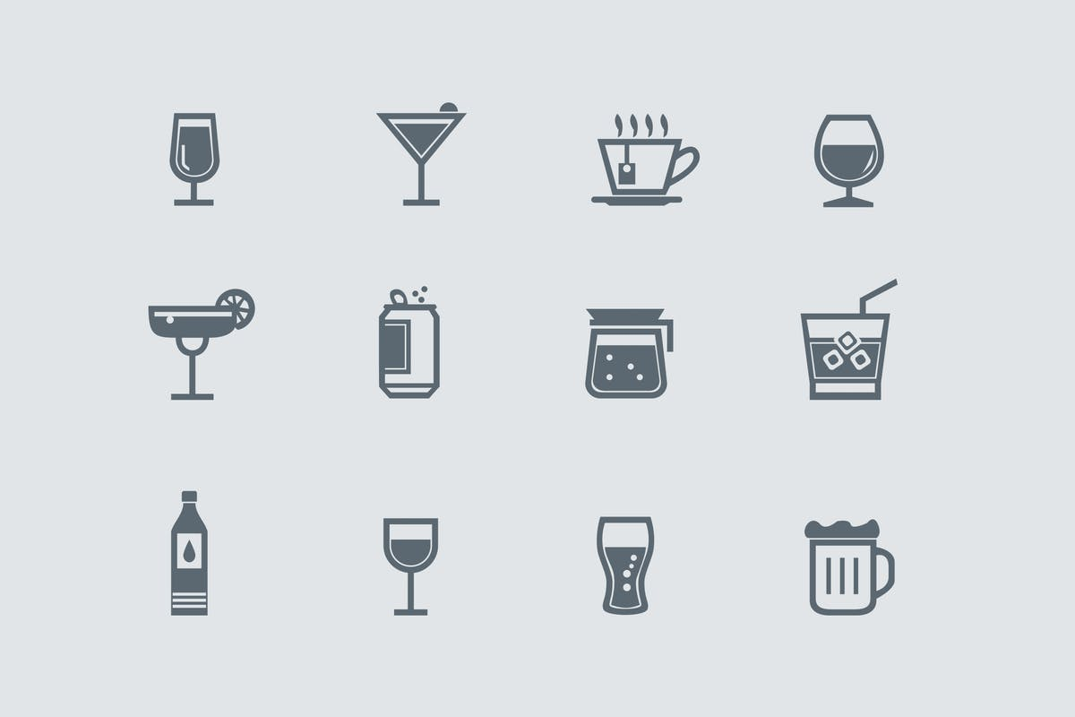 Download 12 Drink and Beverage Icons by creativevip by Unknow