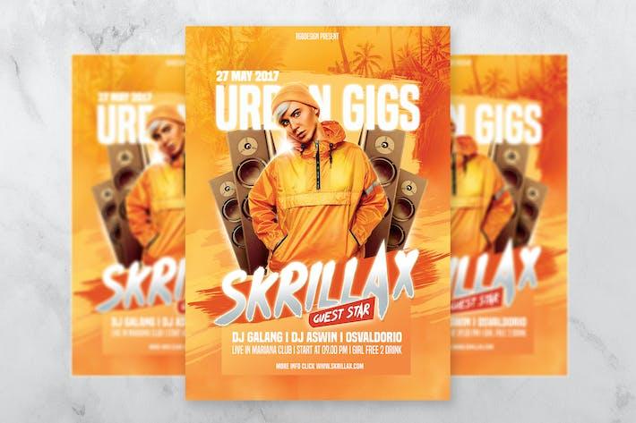 Thumbnail for Urban DJ Party Hiphop Flyer Vorlage