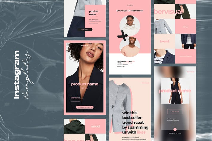 Thumbnail for 15 Fashion Instagram Stories Template