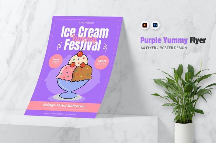 Thumbnail for Purple Yummy Cream Flyer