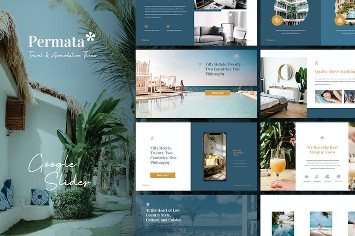 Thumbnail for Permata - Reise & Gastfreundschaft Google Slides