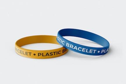 Rubber Bracelet Mock-Up Template