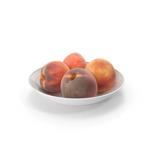 Peaches in plate