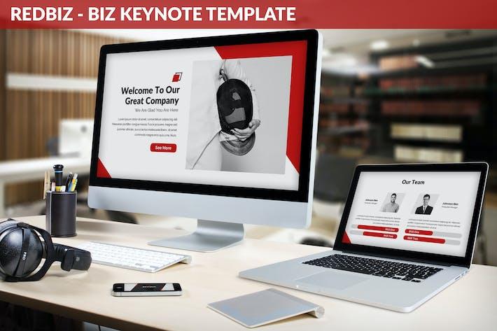 Thumbnail for Redbiz - Biz Keynote Presentation Template