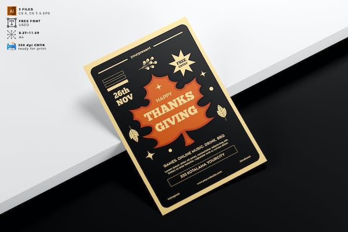 Thanksgiving Flyer Template Vol. 02