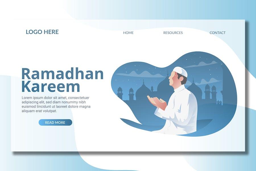 Muslim Praying - Landing Page