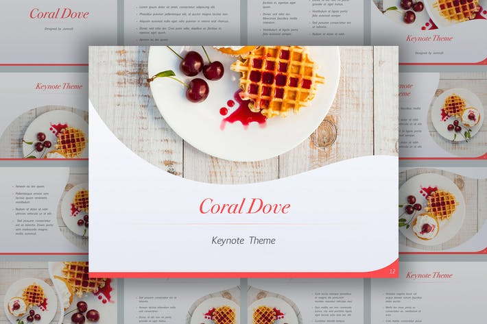 Download 2 delicious presentation templates envato elements thumbnail for coral dove keynote theme forumfinder Images