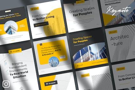 Bangunan - Architecture Instagram Kit Keynote