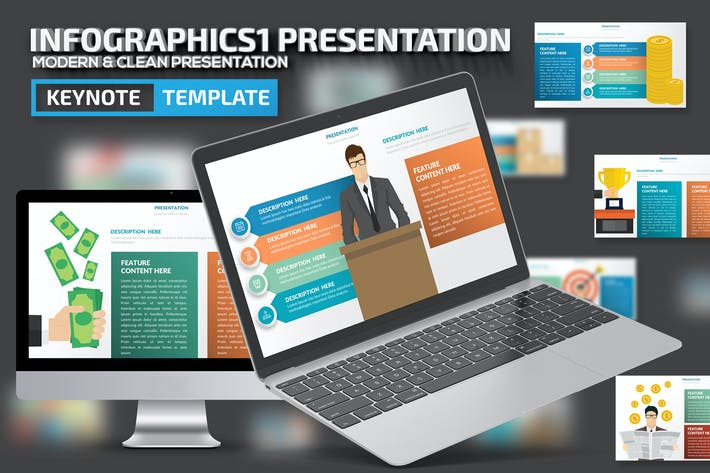 Thumbnail for Infographic1 Keynote Presentation Template