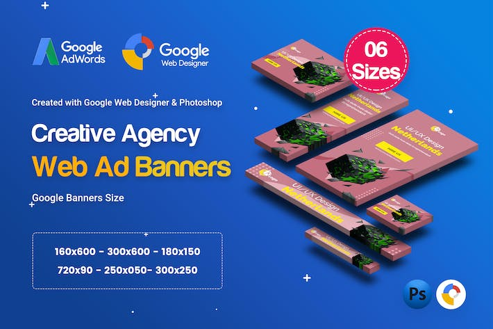 Thumbnail for C13 - Creative, Startup Agency Banners HTML5 Ad