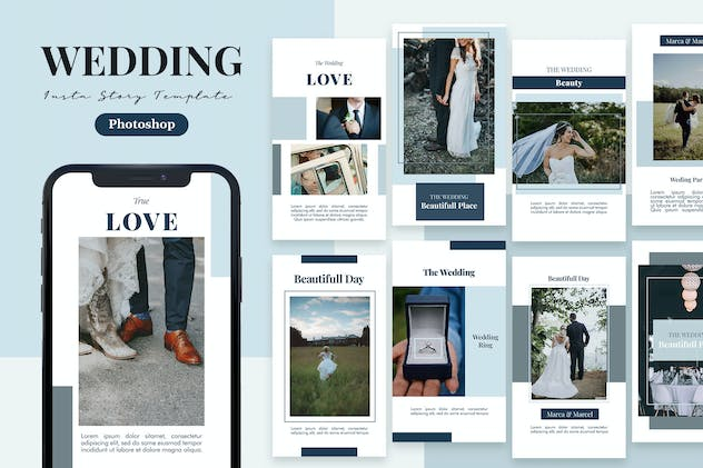 Bride - Wedding Instagram Story Template - product preview 0