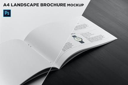 Landscape Brochure Mockup Right Closeup