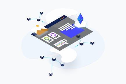 Blockchain Platform KYC Isometric