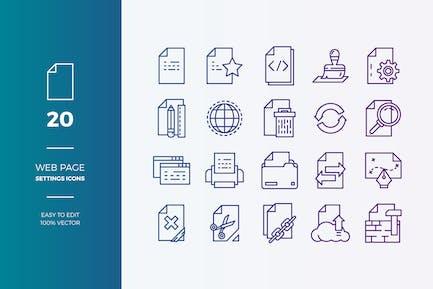 Kit de Íconos del Página web