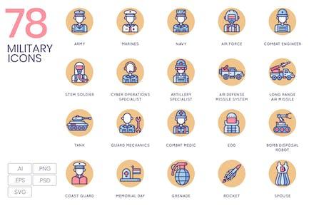 78 Militärische Icons