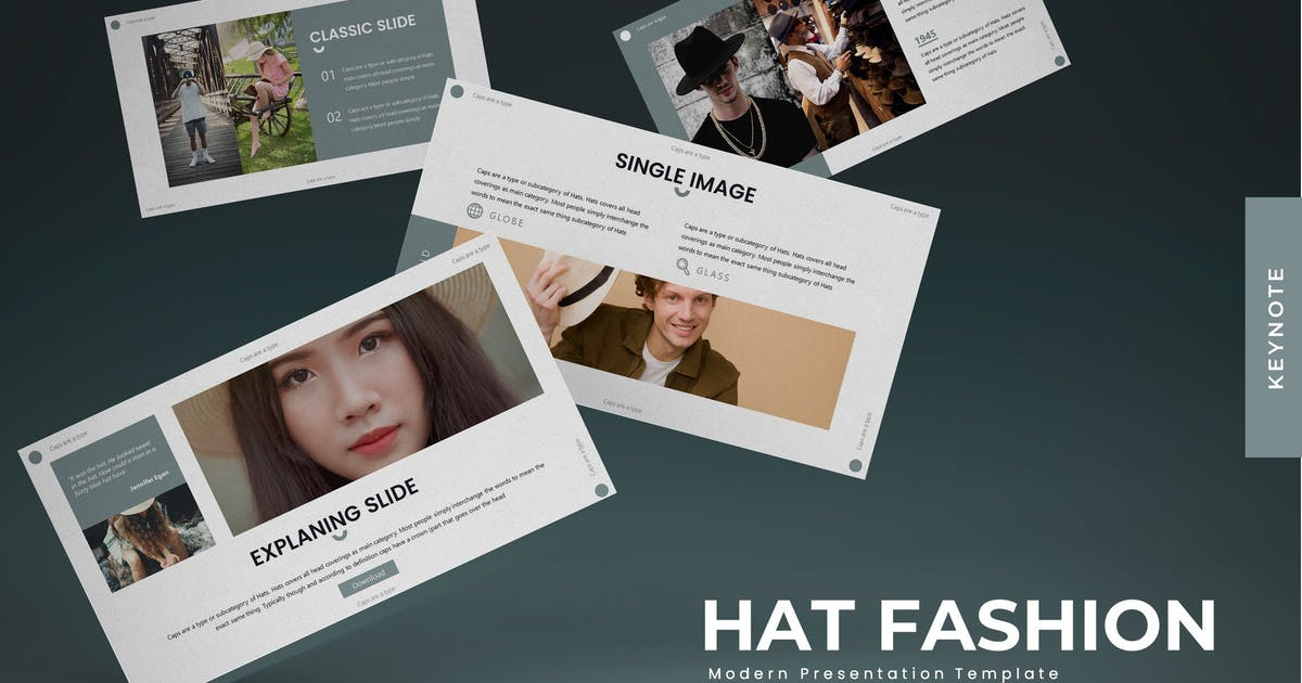Download Hat Fashion - Keynote Template by karkunstudio