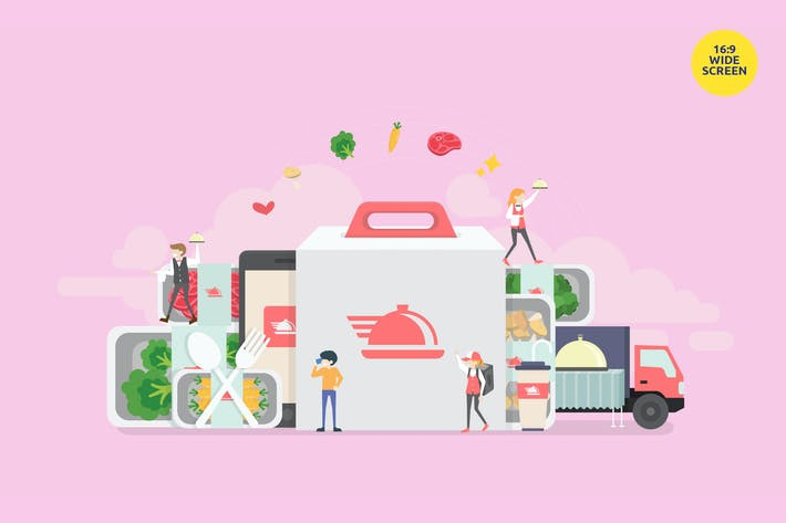 Thumbnail for Food Catering Service Vector Concept Illustration