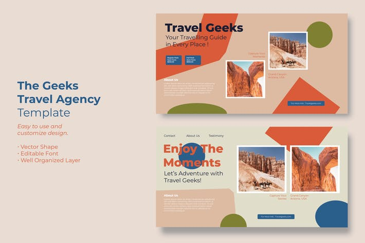 Travel Geeks Facebook Ads Template