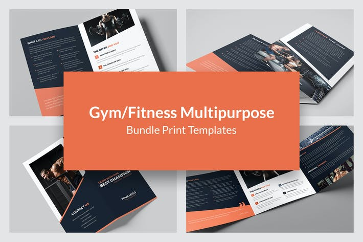 Thumbnail for Gym – Bundle Print Templates 5 in 1