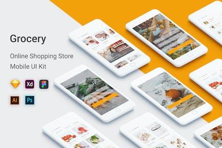 Lebensmittelgeschäft - Online-Shopping Shop UI Kit