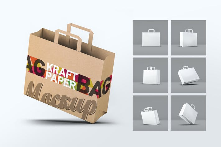 Thumbnail for Kraft Paper Bag Mock-Up