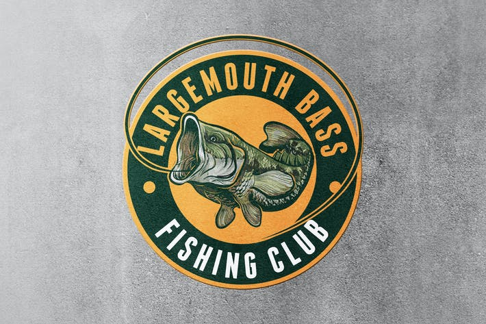 Thumbnail for Largemouth Bass Fishing Logo