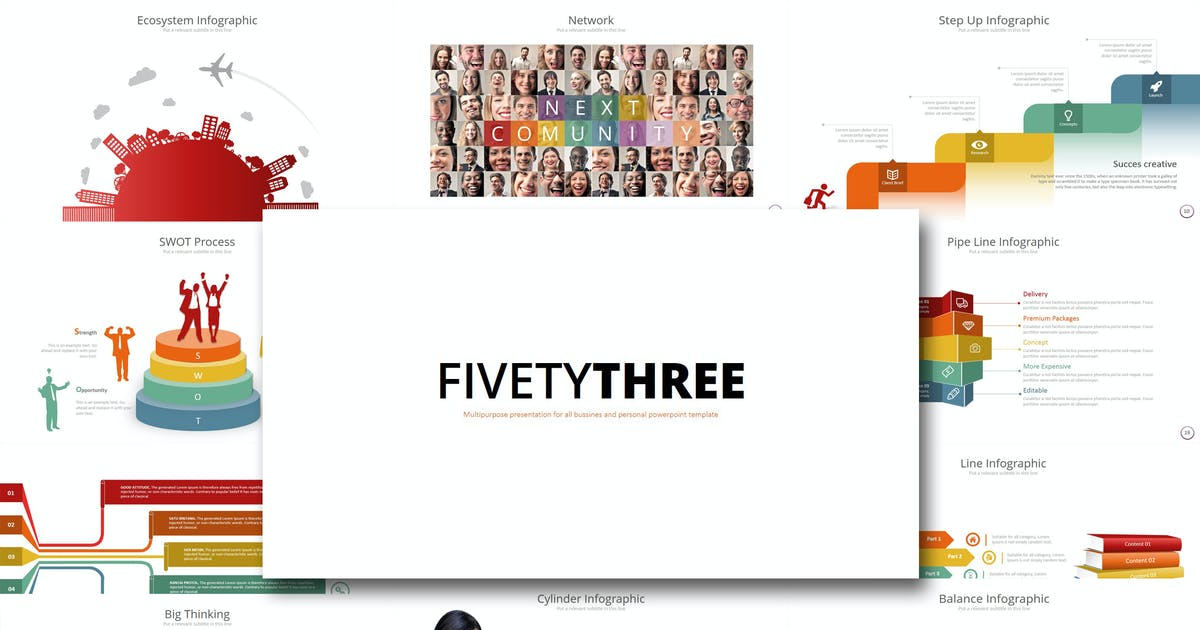 Download Fifty 3 - Powerpoint Template by Artmonk