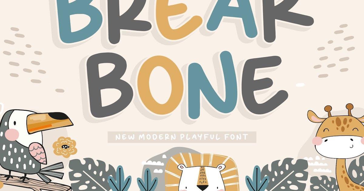 Download Breakbone Display Font YH by GranzCreative