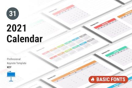 Calendar 2021 for Keynote